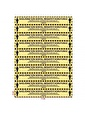 Artikel Sosyal Mesafe Sticker-11 71X10 Cm 10'Lu Set Renkli